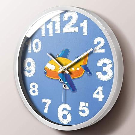 LZLXX Hora Radio Control Exterior y jardín Interior Reloj, Oficina y Sala Reloj de Pared@Avioneta: Amazon.es: Hogar