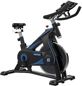 Bicicleta Estática de Fitness, Bici Spinning Bicicleta Fitness de Interior Asiento Ajustable Actividades en el Interior Ciclismo de Interior,Capacidad Máxima de Carga 100 kg: Amazon.es: Deportes y aire libre