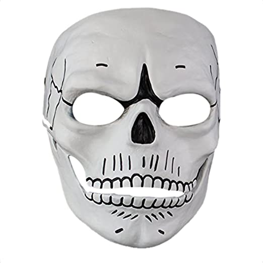 Amazon.com: Halloween Mask Scary Skull 007 Men Facemask for Masquerade Party Home Collection: Clothing