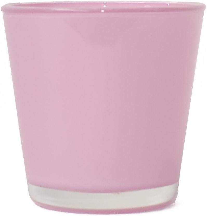 Rosa Interflowers GmbH 3 Set Glas/übert/öpfe Teelichtglas,/Übertopf,
