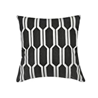 Lominc Embroidered Geometry Cotton Decorative Throw Pillow Cover Cushion Case Pillow Case Square 18