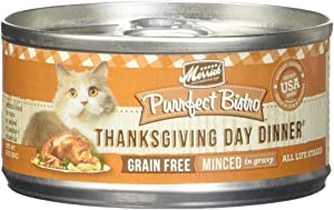 Merrick Purrfect Bistro Grain Free Thanksgiving Day Dinner Canned Cat Food, 3 oz, Case of 24