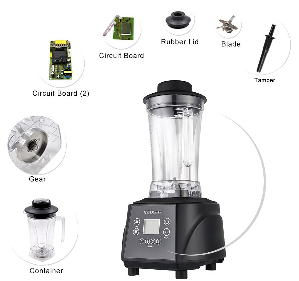 Kitchen small appliance circuit - Amazon Com Sq Moosha 2l Professional Blender And Nutrient Juicer With High Performance Multifunction Food Processor Kitchen Dining