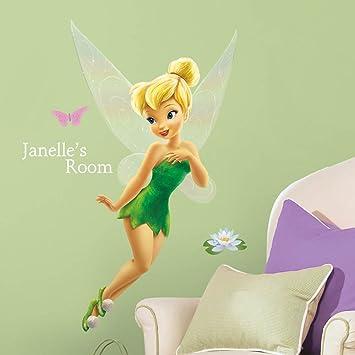 Adesivo de Parede Infantil de parede Tinker Bell Gigante com alfabeto Fadas  Disney removível – Roommates 8f172983ea3