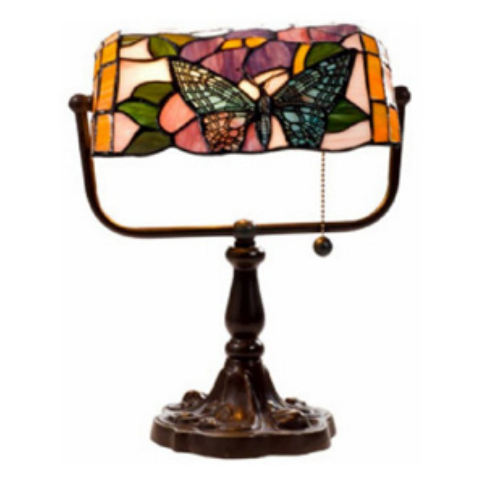 Tiffany style banker butterfly desk lamp amazon geotapseo Image collections