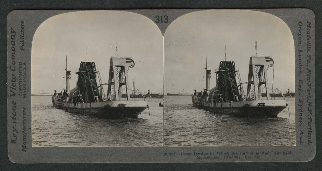 Dredging in the Harbor of Montevideo Uruguay South America