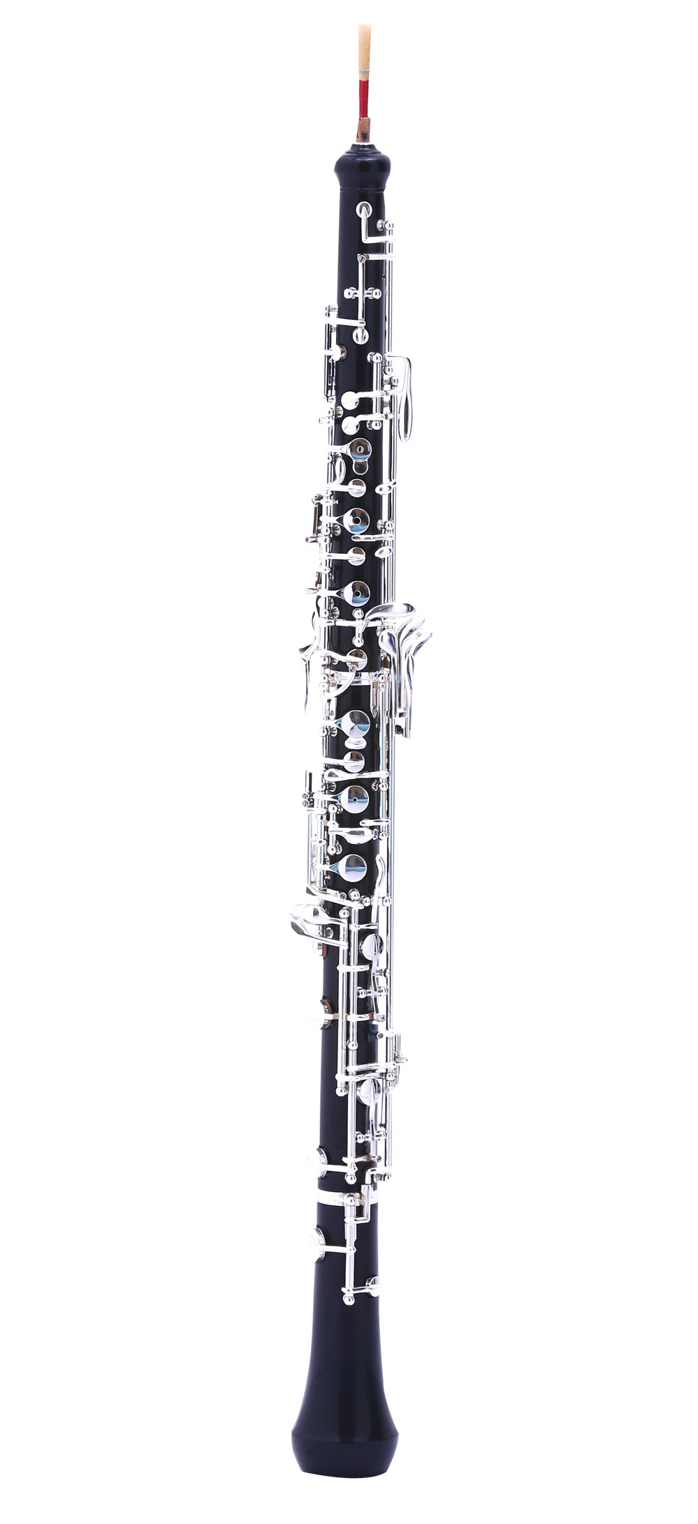 MeeLe C Key Oboe with Grenadilla Wood and Resin Body Silver Plated Keys