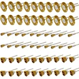 PHYHOO 3mm Brass Wire Brushes Cup Wheels Cleaning Brush Kit Polishing Attachment for Dremel Die Grinder Rotary Tools 60 Pcs