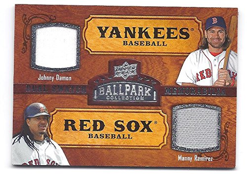 AMIREZ 2008 Upper Deck Ballpark Collection #187 DUAL Game Used JERSEY Card Boston Red Sox Baseball (Upper Deck Used Baseball Cards)