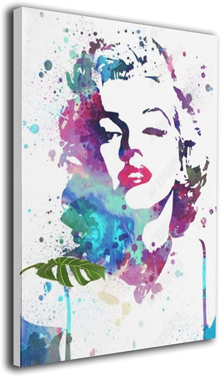 Marilyn Monroe Wall Art Painting Framed Artwork with Living Room Bedroom Ready to Hang for Home Decor 16x20 Inch