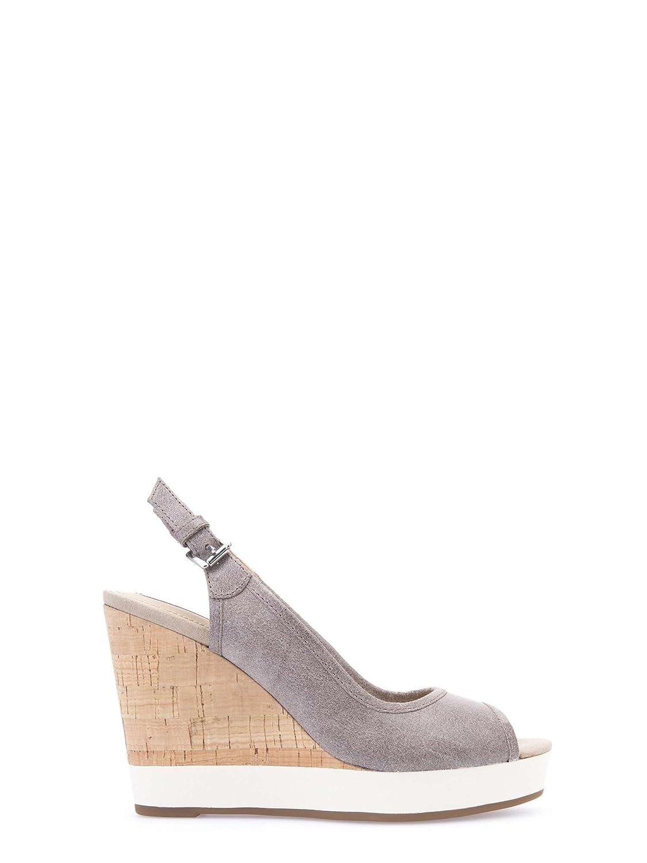 Sandalen/Sandaletten, color Grau, marca GEOX, modelo Sandalen/Sandaletten GEOX DONNA JANIRA Grau Geox