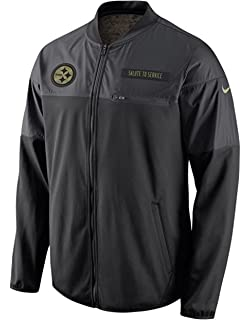 Nike Pittsburgh Steelers Salute to Service Hybrid Performance Men s NFL  Jacket (Small) b0505971f