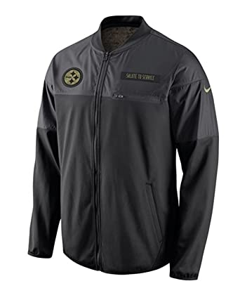 d255d6710 Nike Pittsburgh Steelers Salute to Service Hybrid Performance Men s NFL  Jacket (Small)