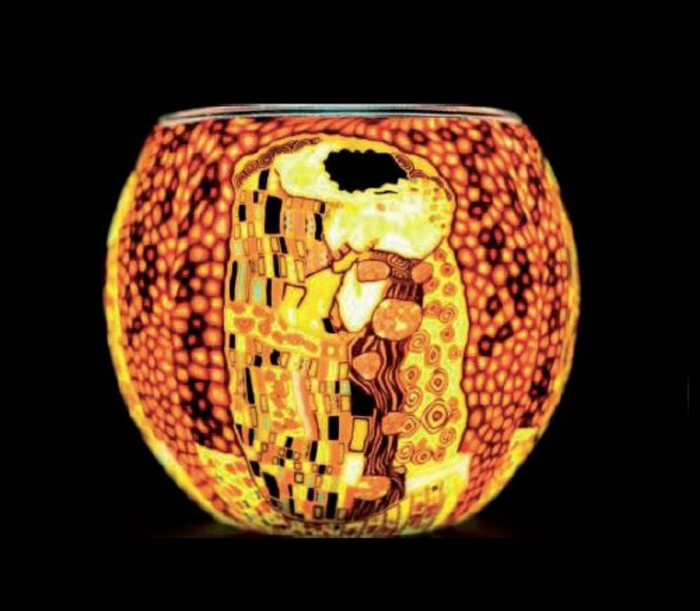 Benaya Klimt The Kiss Tealight Holder Benaya Art Ceramics