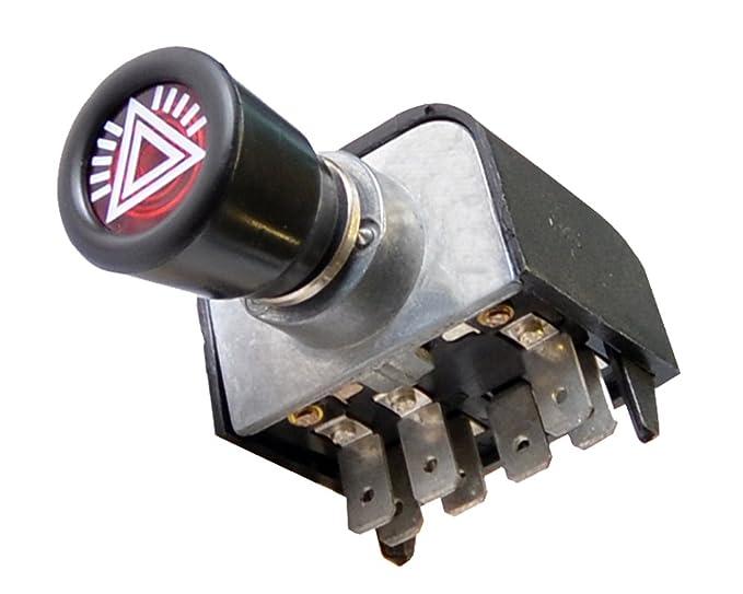 Relais mit Kontrolleuchte Massey Ferguson Warnblinkschalter MF mit Blinkgeber