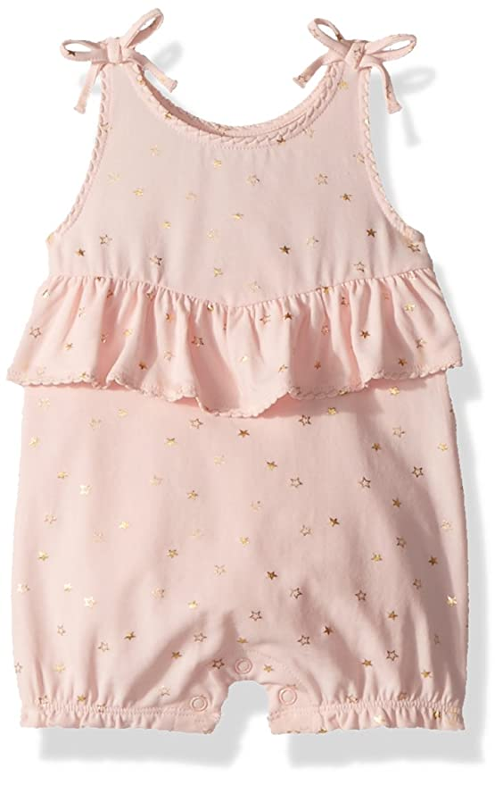 4686ecba492 Amazon.com  Mud Pie Baby Girls Sparkle Sleeveless Bubble Romper Playwear   Clothing