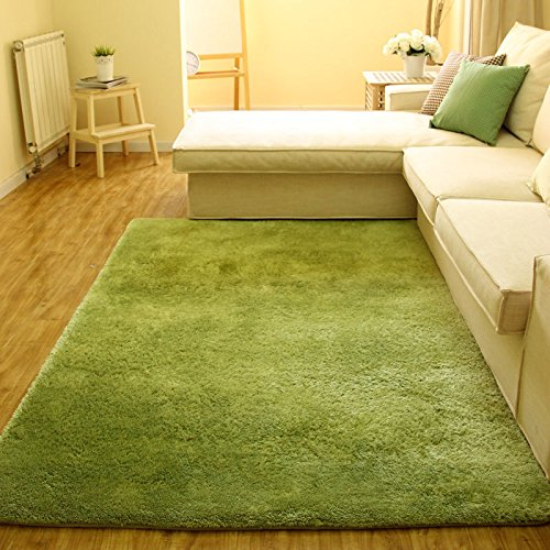Super Soft Modern Shag Area Silky Smooth Rugs Living Room Carpet Bedroom Rug
