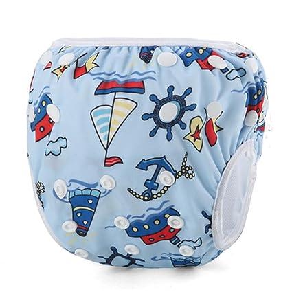 Pañales de natación impermeables ajustables para bebé, 10 – 40 kg, pañales reutilizables,