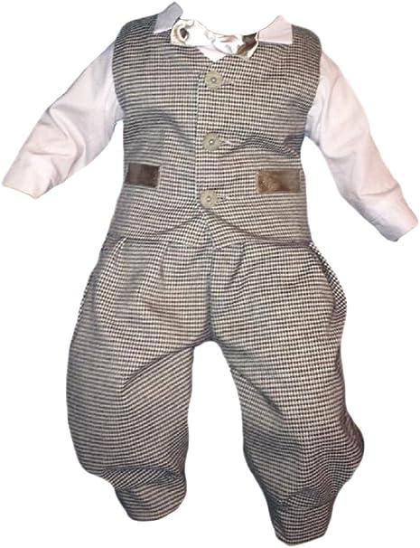 Kika - Ropa de Bautizo - para bebé niño Blanco Y Gris 3 Mes ...