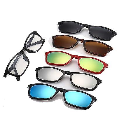 Gafas de Sol pequeñas de Estilo Retro con 5 Piezas de Lentes ...