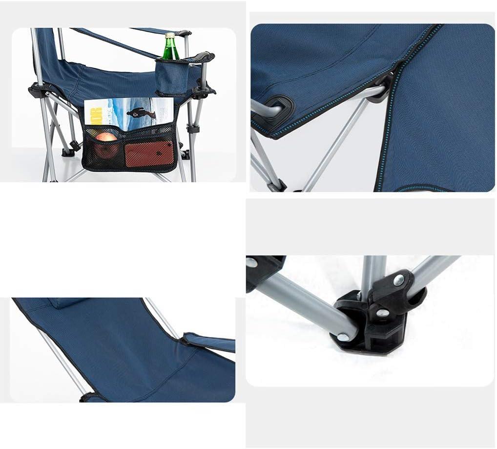ZLQQ Silla de Camping Plegable portátil Pesca al Aire Libre Camping Plegable Silla de Playa portátil Descanso jardín Deportes (Color : Orange) Gray