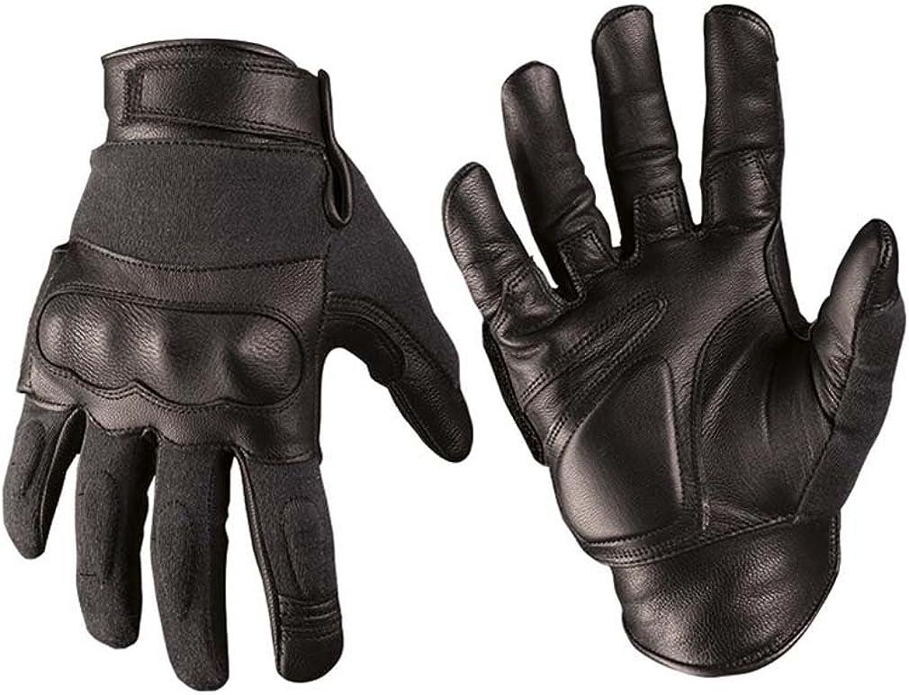 Mil-Tec Mens Gloves Leather//Kevlar Black