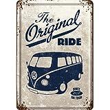 フォルクスワーゲン VW Bulli - The Original Ride / ポストカード (ブリキ製)