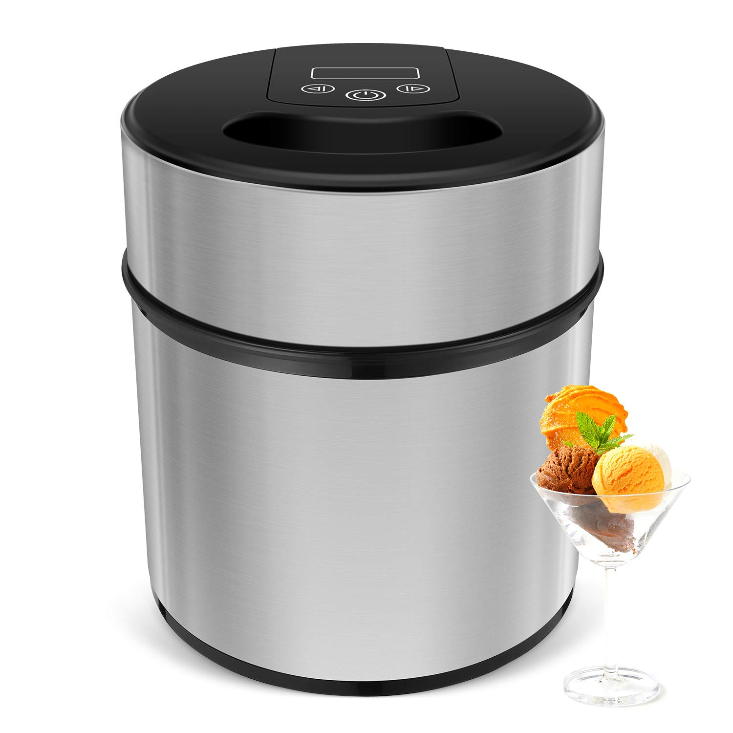Ice Cream Maker-MVPower 2.1Quart Frozen Yogurt & Sorbet Maker Machine,12W.