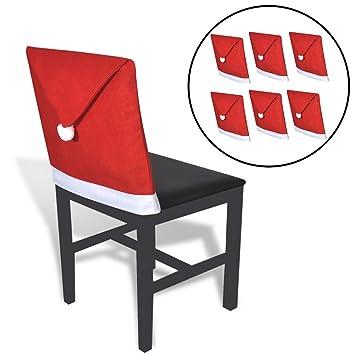 Festnight- 6 Fundas Decorativas para sillas de Comedor Respaldo de Silla Modelo Sombrero Papá Noel: Amazon.es: Electrónica