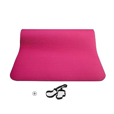 HJHY® Tapis de yoga, Fitness Sit-ups insipide antidérapants Tapis de yoga débutant Épaissir les hommes et les femmes Tapis de fitness Bonne élasticité