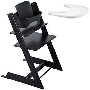 stokke tripp trapp with baby set and tray black