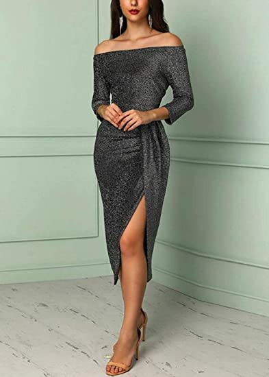 Evening Dresses for Women Formal Off Shoulder