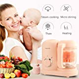 Baby Food Processor, 5 in 1 Food Maker for Toddlers with Steam, Blend, Chop, Sterilizer, Defrost, Clean Function, One…