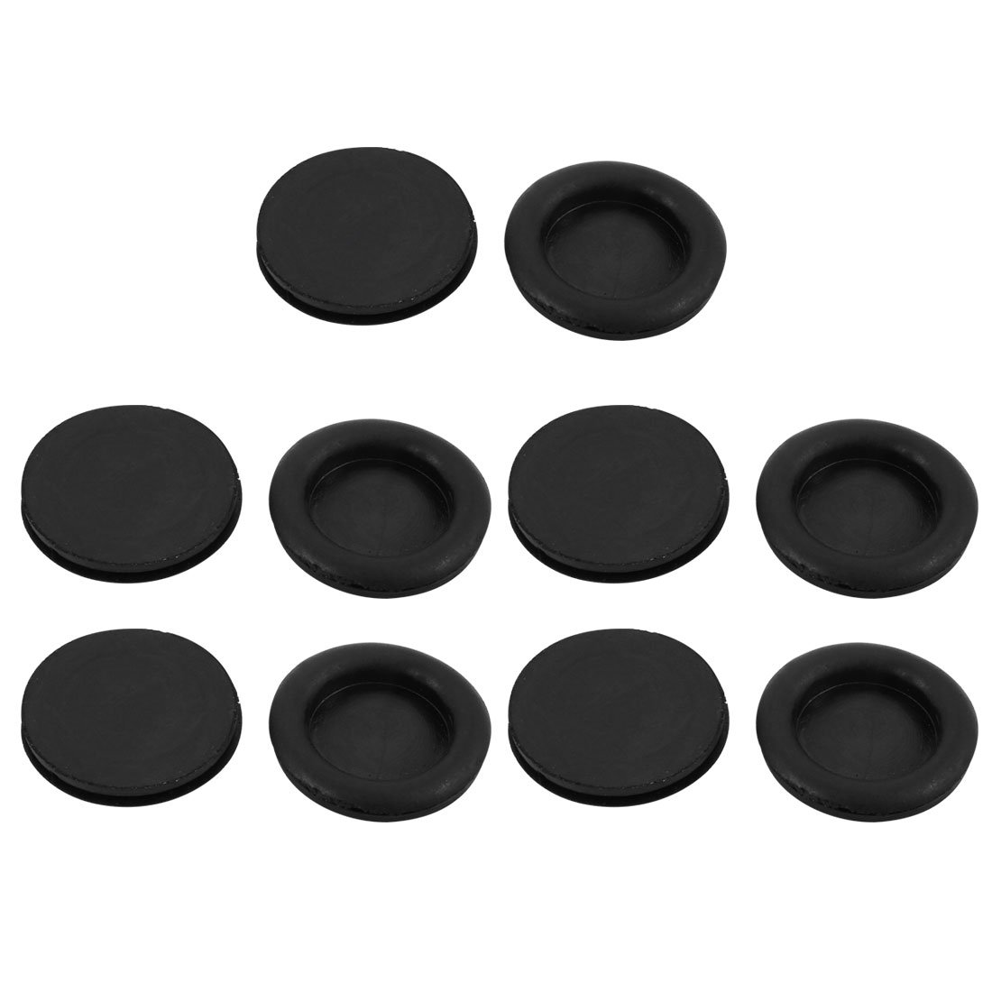 sourcingmap 10Pcs 30mm Drill Hole Diameter Electrical Rubber Wire Protection Grommet Gasket