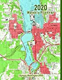2020 Weekly Planner: Olympia, Washington (1959): Vintage Topo Map Cover