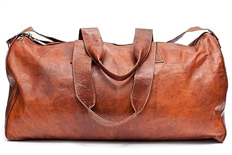 Barello Unisex hecha de piel bolsa de deporte Weekend bolsa Hemingway - Bolsa de deporte, color marrón
