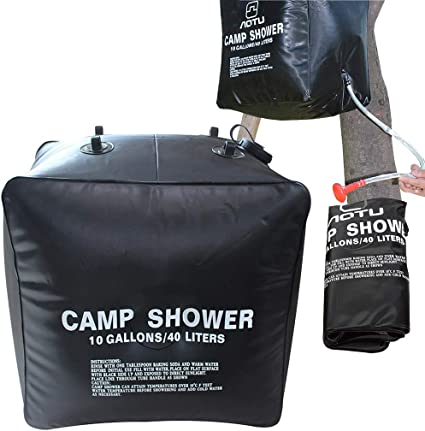 40L 10 Gallons Portable Solar Shower Bag Solar Heating Heated Camping Outdoor