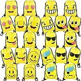 Emoji Birthday Party Ideas 24 Pieces-Cute-Emoji-Party-Supplies-Favors-Bags Drawstring Backpacks for Teens Boys Girls Birthday Ideas Goody Gift Bag