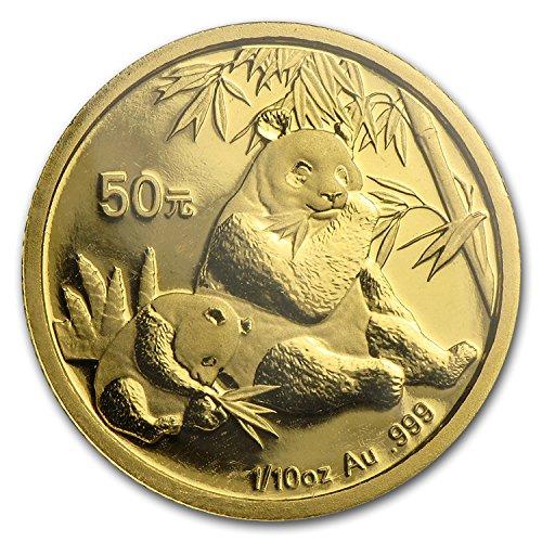 2007 CN China 1/10 oz Gold Panda BU (Sealed) Gold Brilliant (2007 Panda Gold Coins)