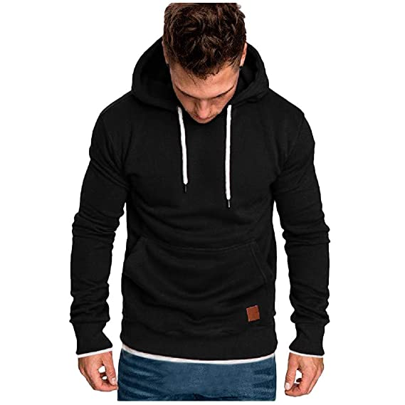 Men/'s Long Sleeve Autumn Winter Sweatshirt s Top Tracksuits Blouse Athletic Garments Casual Clothes