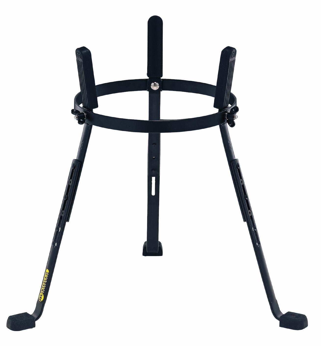 Meinl Percussion 11'' Conga Stand, Black Powder Coated Steel - NOT MADE IN CHINA - Arched Rubber Bracing for More Stability, Notches for Easy Adjustability, 2-YEAR WARRANTY (ST-MCC11BK)
