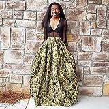 Soft Brocade Metallic Gold Florals on Black Ball Skirt