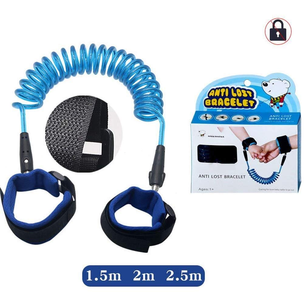 Anti-Lost Traction Rope Without Lock Velcro Anti-Lost Rope (Color : Blue, Size : 2.5m)