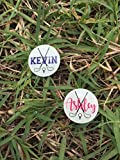 1 Personalized Monogrammed Golf Marker Golf Ball Marker with Hat Clip Golf Accessory Hat Clip