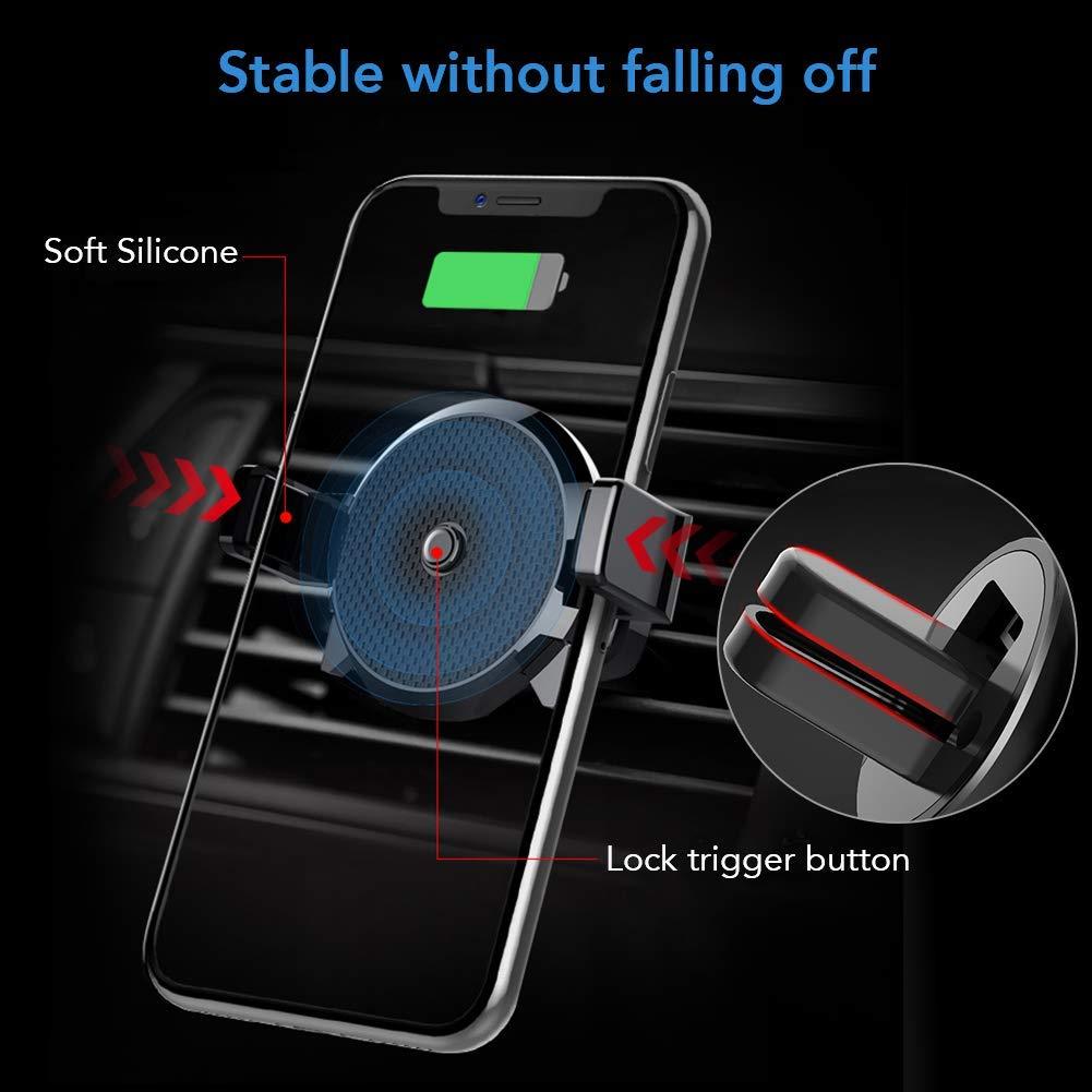 Samsung S9 // S8 etc 5W Qi Auto Handyhalterung L/üftung Kfz Induktive Ladestation,Schnellladeger/ät Kabelloses Autoladeger/ät f/ür iPhone X//XS//XR // 8 MANLI Wireless Charger Auto