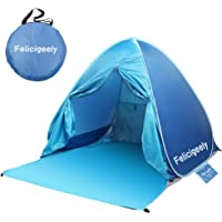 Felicigeely Beach Tent,UPF 50+ Portable Pop up Sun Shelter with Carry Bag,Automatic Instant Baby Beach Tent Beach Sun…