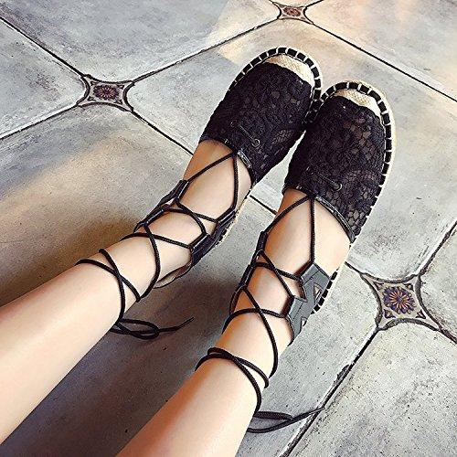 Dony Trauml;ger mit Sandalen, flache Unterseite Seil und atmungsaktive Sandalen Damen Damen Schuhe  Dark brown|Thirty-seven