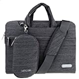 ivencase Laptop Shoulder Bag Suit Fabric Portable Briefcase Carry Case for all 13-13.3 inch Tablet / Macbook / Notebook / Computers - Macbook Pro 13'' / Macbook Air 13''/ Macbook Pro retina display 13'' - Dark gray