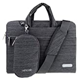 "ivencase - Laptop Shoulder Bag Suit Fabric Portable Case for all 15-15.6 inch Laptop / Notebook / Computer / MacBook Pro 15.4"" / MacBook Pro with Retina Display 15.4"" Briefcase Carry Cover - Dark gray"