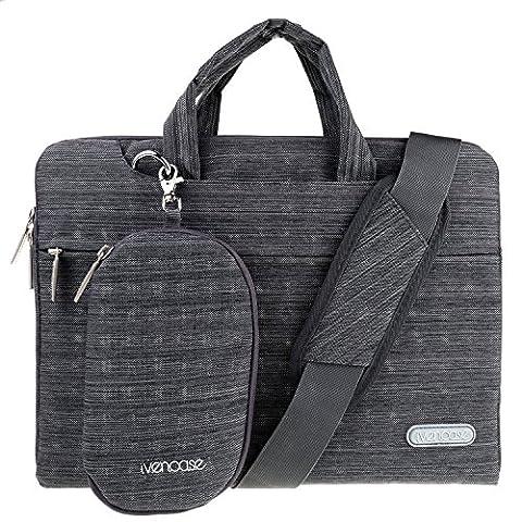 ivencase Laptop Shoulder Bag Suit Fabric Portable Briefcase Case for